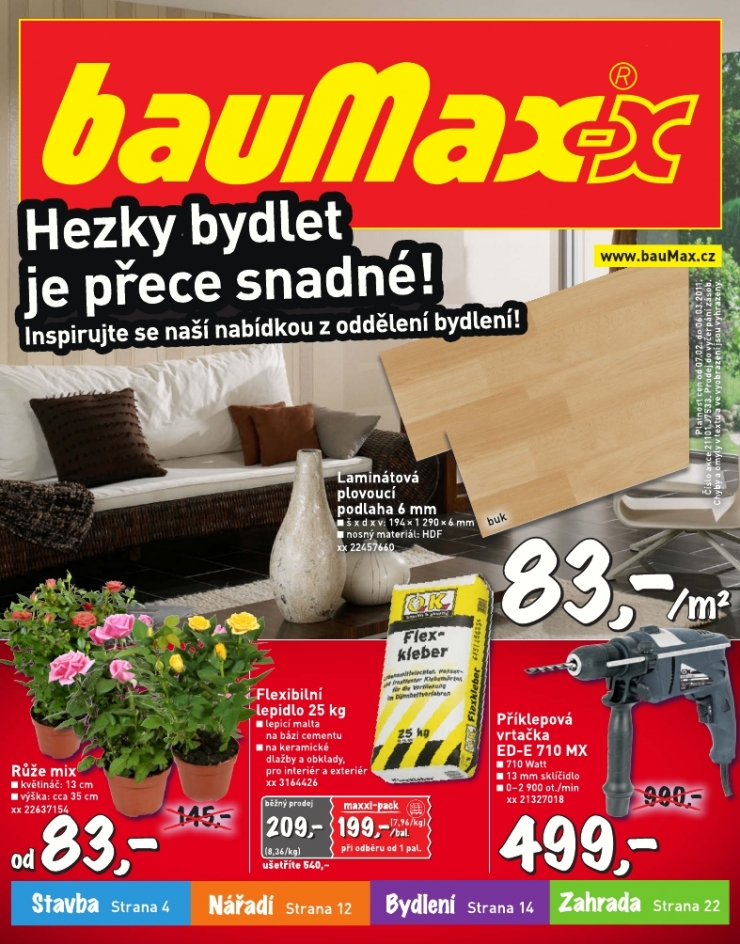 Leták Baumax, stránka 1